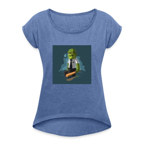 shirt-1463945236-5daf81e62c0d1d7638f8dc3cd92c79b7 - Camiseta con manga enrollada mujer
