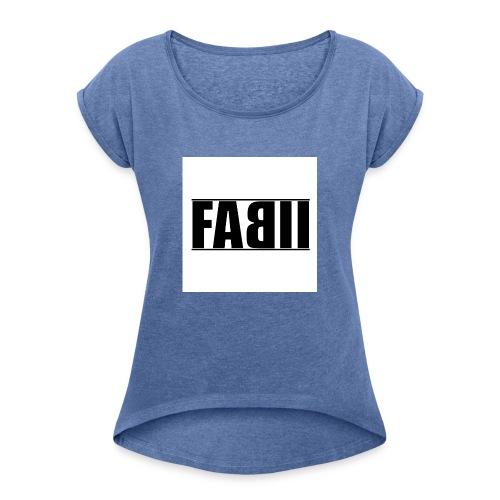 〓ғaвιι〓┋▌т-ѕнιrт ▌┋ғarвe änderвar┋ - Frauen T-Shirt mit gerollten Ärmeln