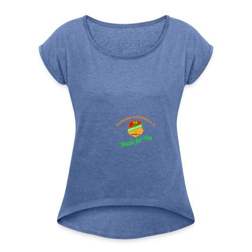 shirt2 - Frauen T-Shirt mit gerollten Ärmeln