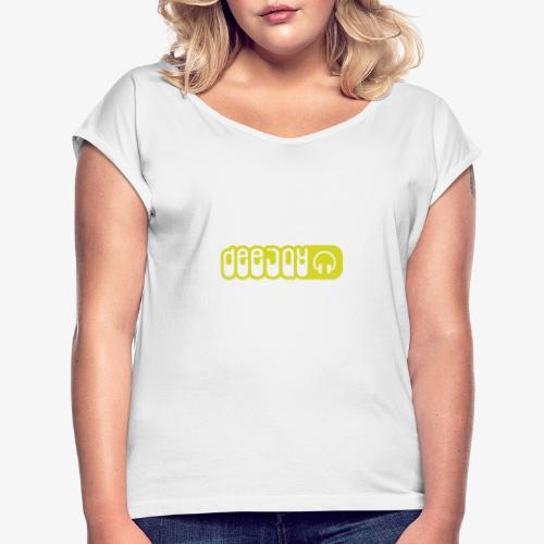 DJ - Camiseta con manga enrollada mujer