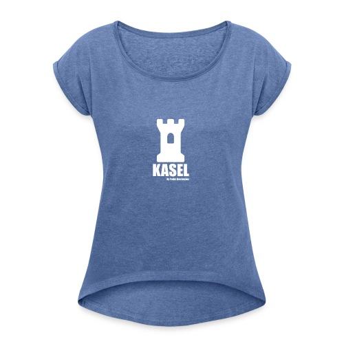 KASEL2 - Camiseta con manga enrollada mujer