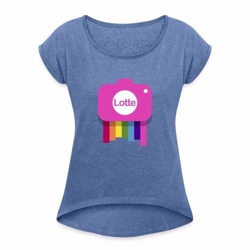 Lotte - Vrouwen T-shirt met opgerolde mouwen