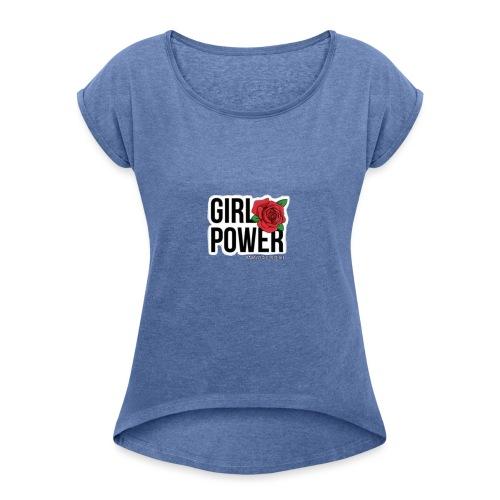 Girlpower - Maglietta da donna con risvolti