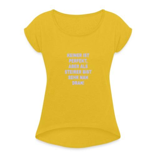 PicsArt 02 25 12 34 09 - Frauen T-Shirt mit gerollten Ärmeln