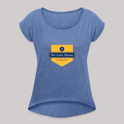 graubünden - Frauen T-Shirt mit gerollten Ärmeln
