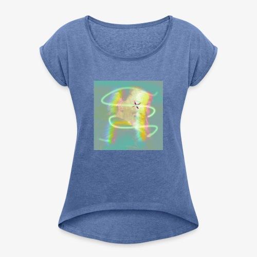 alda - Frauen T-Shirt mit gerollten Ärmeln