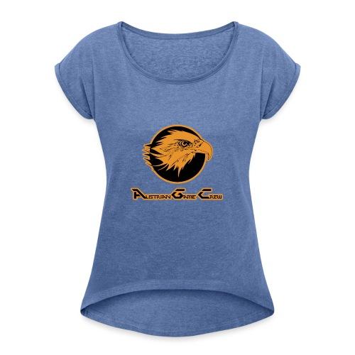 AGCmitName - Frauen T-Shirt mit gerollten Ärmeln