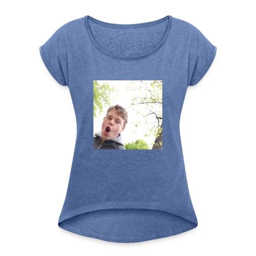 IMG 20190504 222548 968 - Frauen T-Shirt mit gerollten Ärmeln
