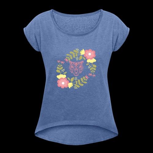 Tee-shirt TIGRE - T-shirt à manches retroussées Femme