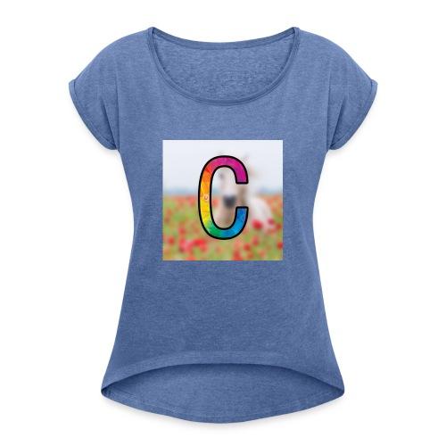 Chiki_128 Shop - Frauen T-Shirt mit gerollten Ärmeln