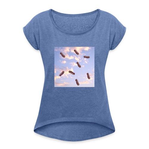 Fly like a Cevap - Frauen T-Shirt mit gerollten Ärmeln