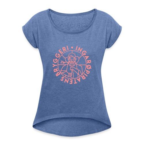 IPGUBBE - T-shirt med upprullade ärmar dam