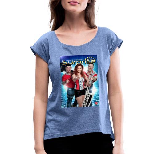Autogramm Surprise Band - Frauen T-Shirt mit gerollten Ärmeln