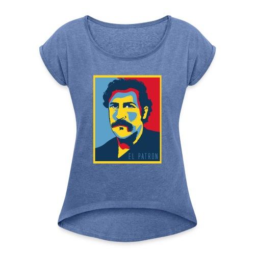 Retro - Camiseta con manga enrollada mujer