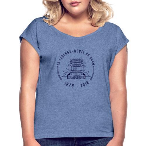 La légende Route du Rhum - Marine - T-shirt à manches retroussées Femme