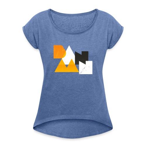 BANAAN 03 - Vrouwen T-shirt met opgerolde mouwen