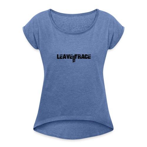 nc-lyt-album-logo - Frauen T-Shirt mit gerollten Ärmeln