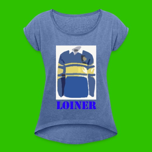 Leeds Loiner [Blue] - Women's T-Shirt with rolled up sleeves
