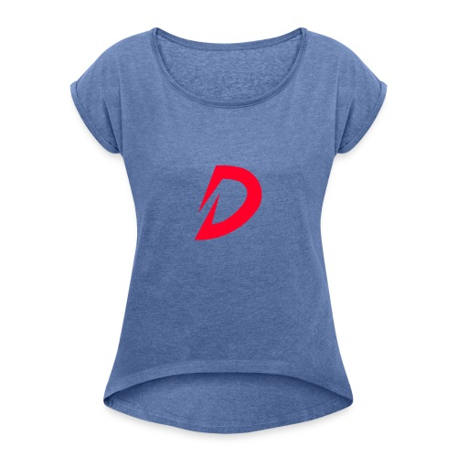 Destra Logo by Atelier render red - Vrouwen T-shirt met opgerolde mouwen