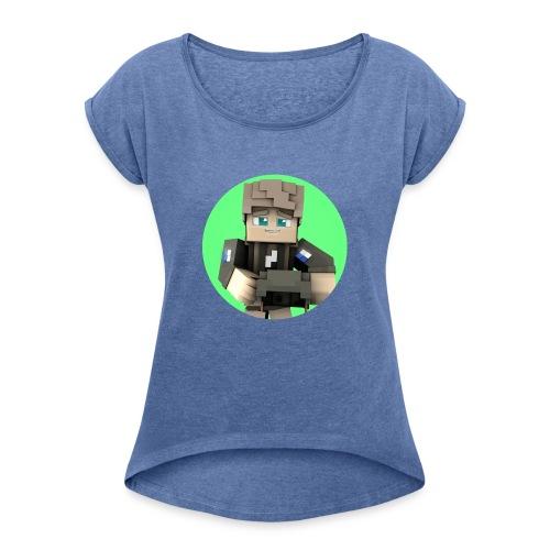 The logo disign - Frauen T-Shirt mit gerollten Ärmeln