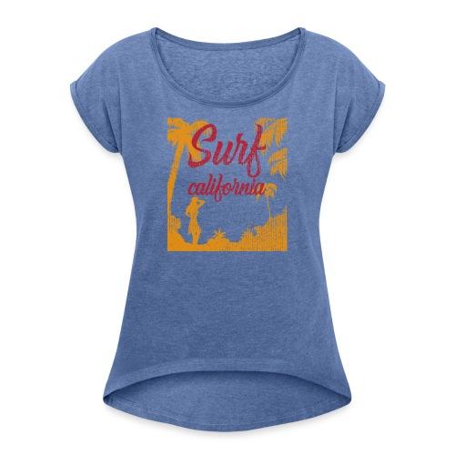 SURF CALIFORNIA - Maglietta da donna con risvolti