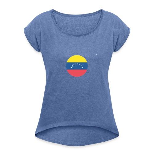 orgullo venezolano - Camiseta con manga enrollada mujer