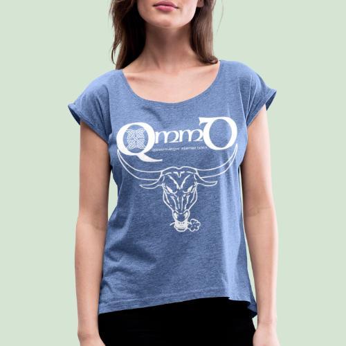 Logo & Bull's Head II - Frauen T-Shirt mit gerollten Ärmeln