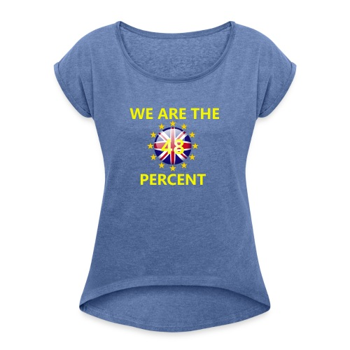 European Coffee mug - Women's T-Shirt with rolled up sleeves