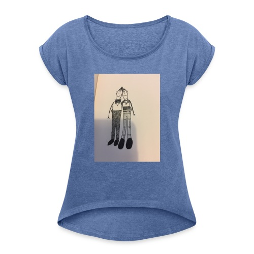 7BFBE9BF E4E5 4C03 BA70 85DE974A6292 - Women's T-Shirt with rolled up sleeves