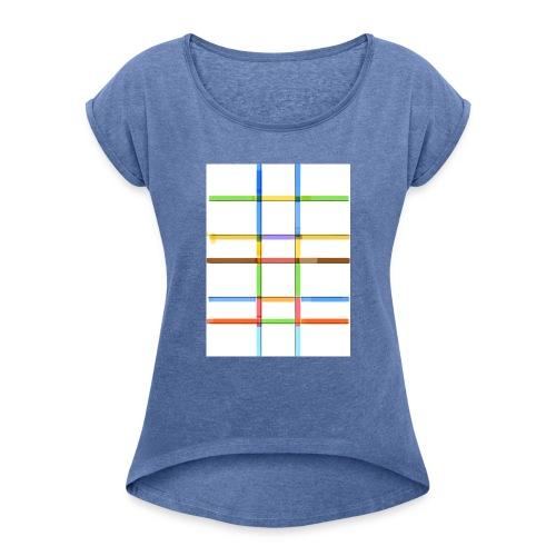 Prankdown2 symbol - T-shirt med upprullade ärmar dam