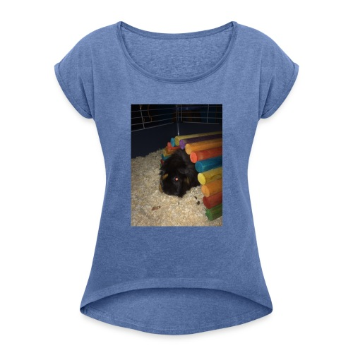 Nibbles!!!!!!!! - Women's T-Shirt with rolled up sleeves