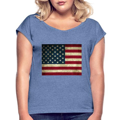 Untitled design 2 - Women's T-Shirt with rolled up sleeves