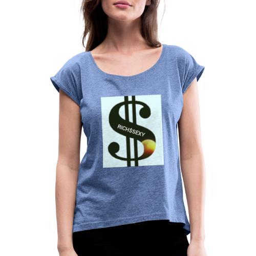 Rich$Sexy - Frauen T-Shirt mit gerollten Ärmeln