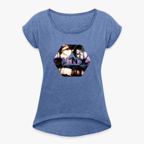 MKNS0008 - Frauen T-Shirt mit gerollten Ärmeln
