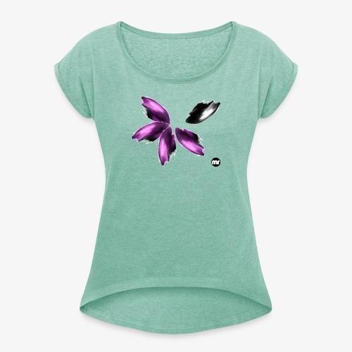 Sembran petali ma è l'aurora boreale - Maglietta da donna con risvolti