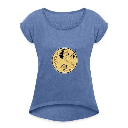 vintage classic - T-shirt à manches retroussées Femme