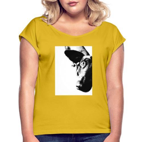Einauge - Frauen T-Shirt mit gerollten Ärmeln