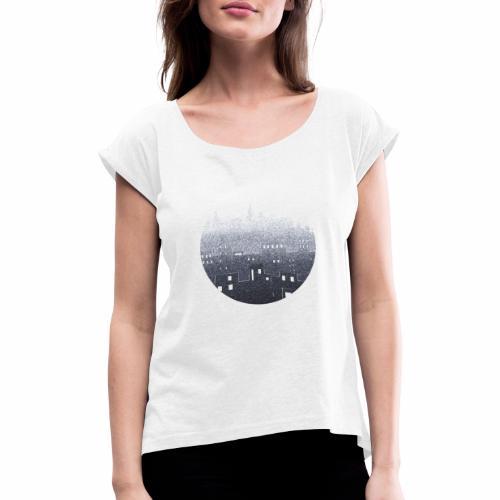 city hall snow blue - T-shirt à manches retroussées Femme