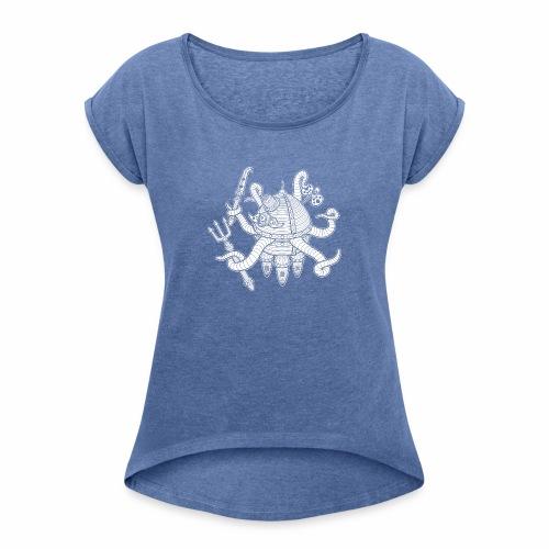 poseidrone - T-shirt à manches retroussées Femme