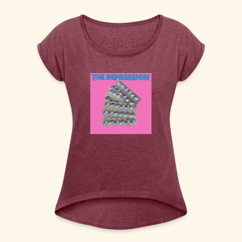 The Depresh. - Women's T-Shirt with rolled up sleeves