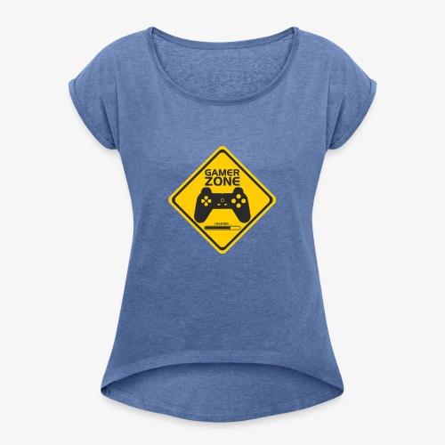 AMRS ShirtDesigns Game Zone - T-shirt à manches retroussées Femme