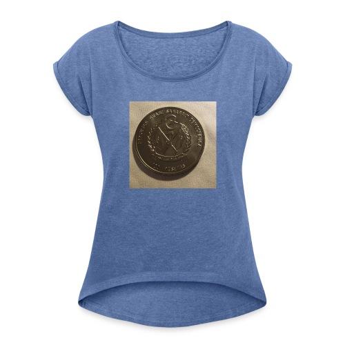 saharaui - Camiseta con manga enrollada mujer