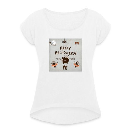 helloween 10 - Women's T-Shirt with rolled up sleeves