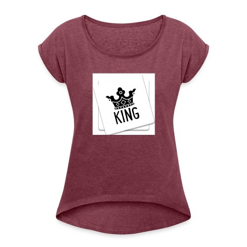 The Kings Throne Launch - Women's T-Shirt with rolled up sleeves