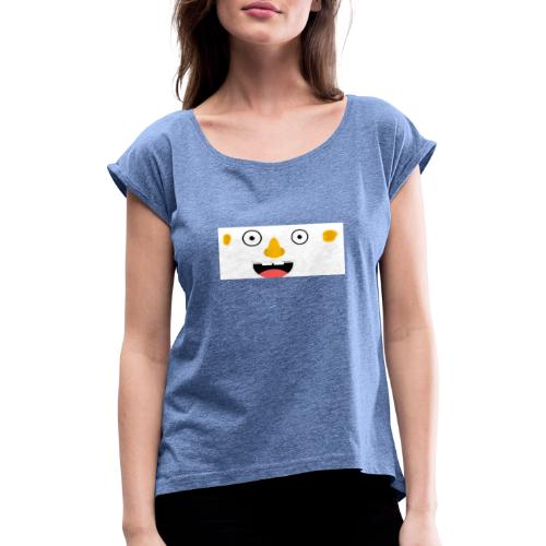 CRAZY FACE - Women's T-Shirt with rolled up sleeves