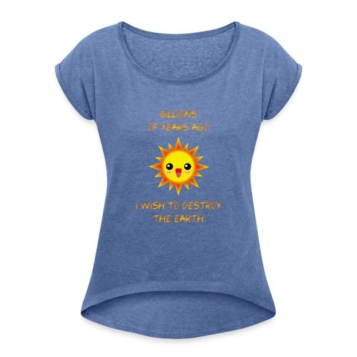 SOL KAWAII sin brillo exterior X - Camiseta con manga enrollada mujer