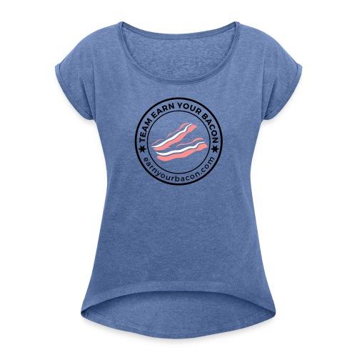 mehrfarbig TeamEYB black - Frauen T-Shirt mit gerollten Ärmeln