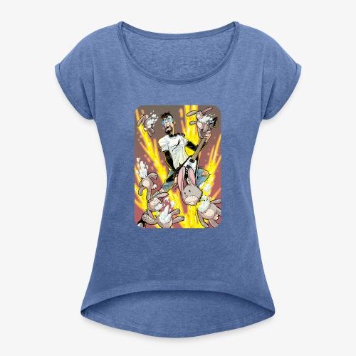 Leo Rock Bunny - T-skjorte med rulleermer for kvinner
