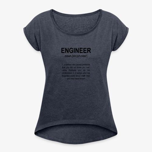 Engineer Def. 2 Black - T-shirt à manches retroussées Femme