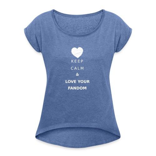 Lovefandom - Maglietta da donna con risvolti